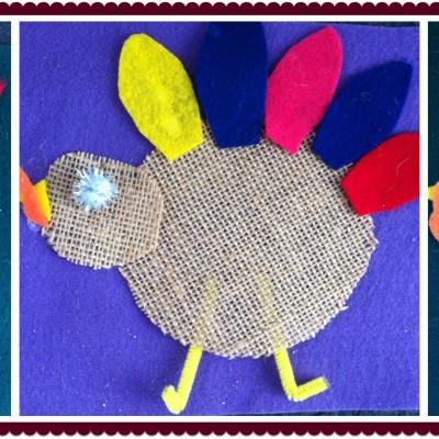 Burlap Turkeys
