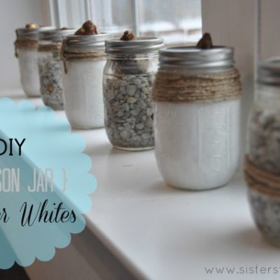 DIY Mason Jar Paper Whites