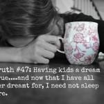 Sleep, and lack thereof.