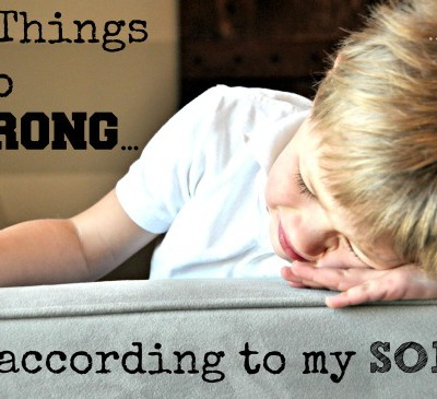 10 Things I do Wrong….(according to my 4 year old)