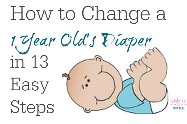 how to change a one year olds diaper