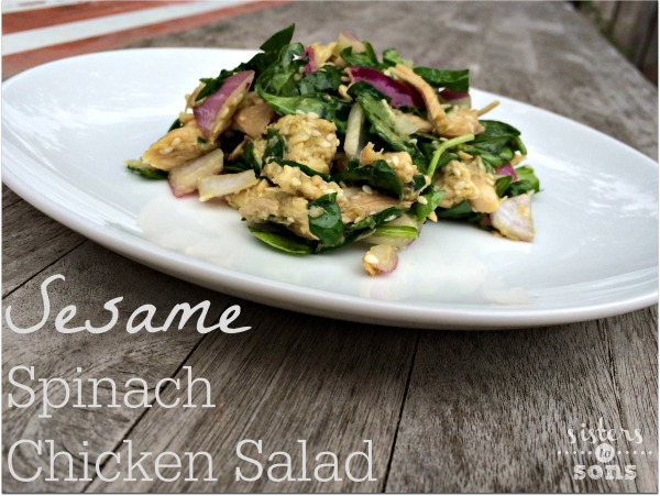sesame spinach chicken salad