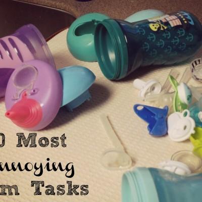 10 Most Annoying Mom Tasks