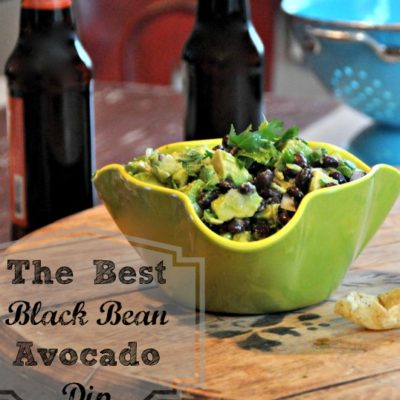 The Best Black Bean Avocado Dip