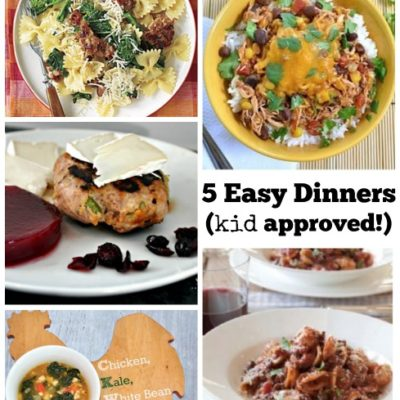 5 Easy Kid Approved Dinners