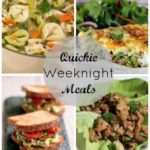 Quickie Meals – A weekly plan.