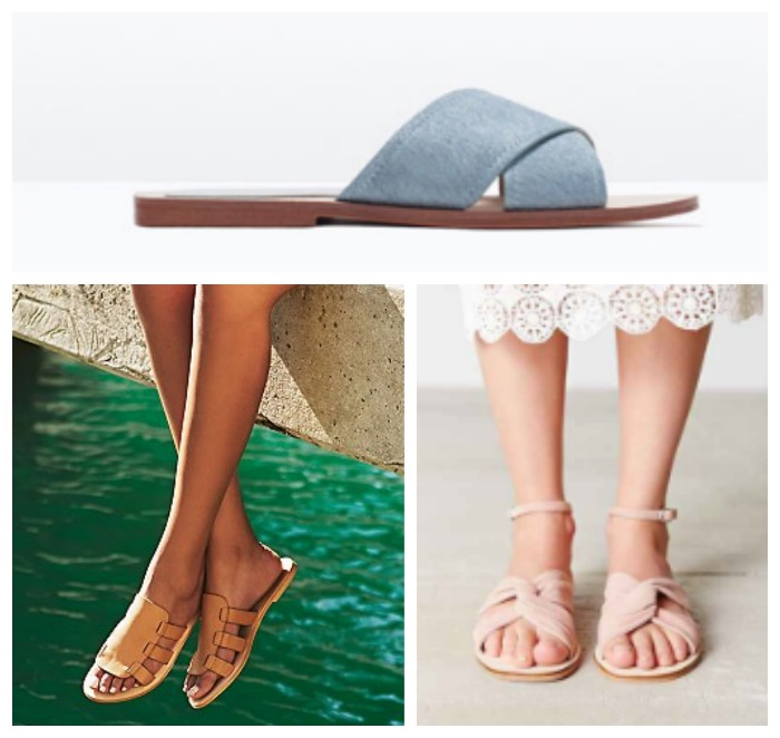 spring trends flat sandals