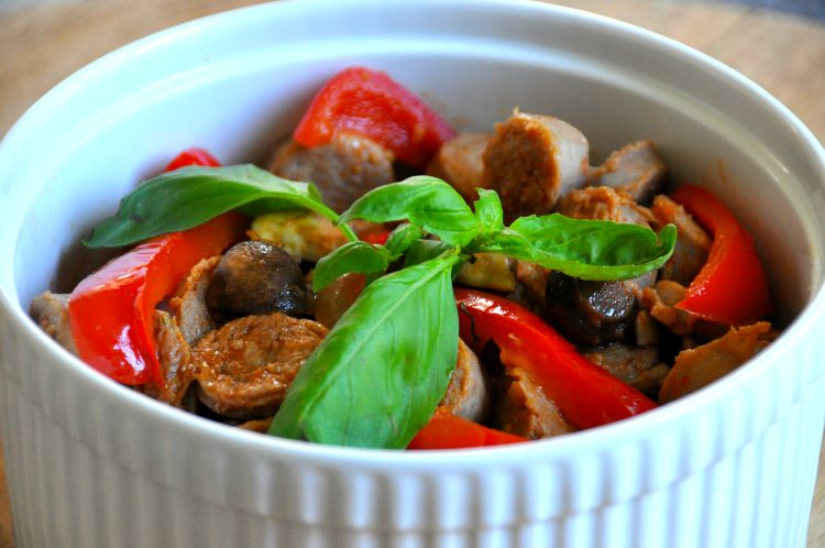 make ahead sausage and peppers