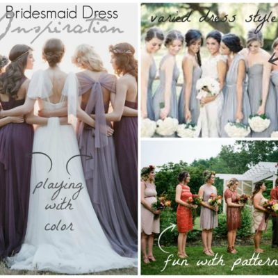 Bridesmaid Dress Inspiration – Reader Question