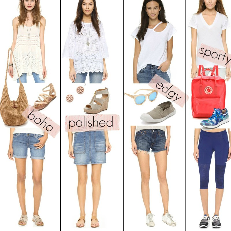 summer style: how to style jean shorts