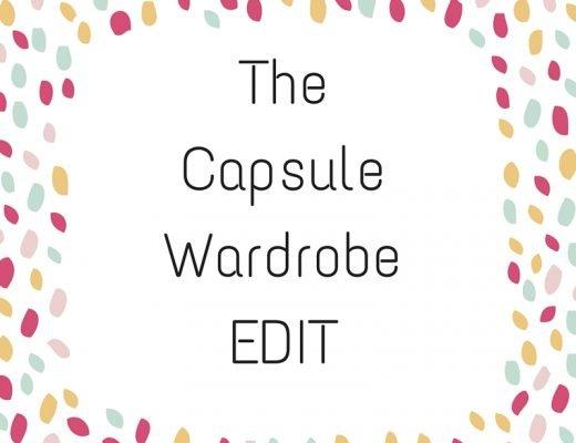 capsule wardrobe edit
