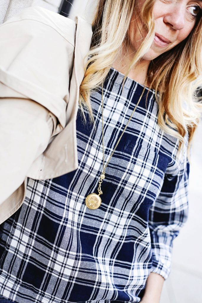 madewell plaid top