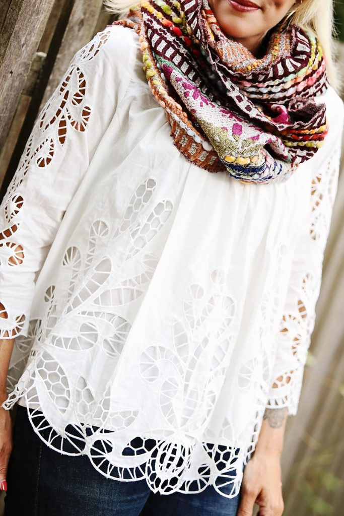 anthropologie lace top, bohemian style