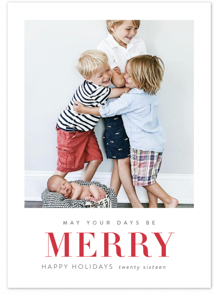 may your days be merry minted holiday greeting card