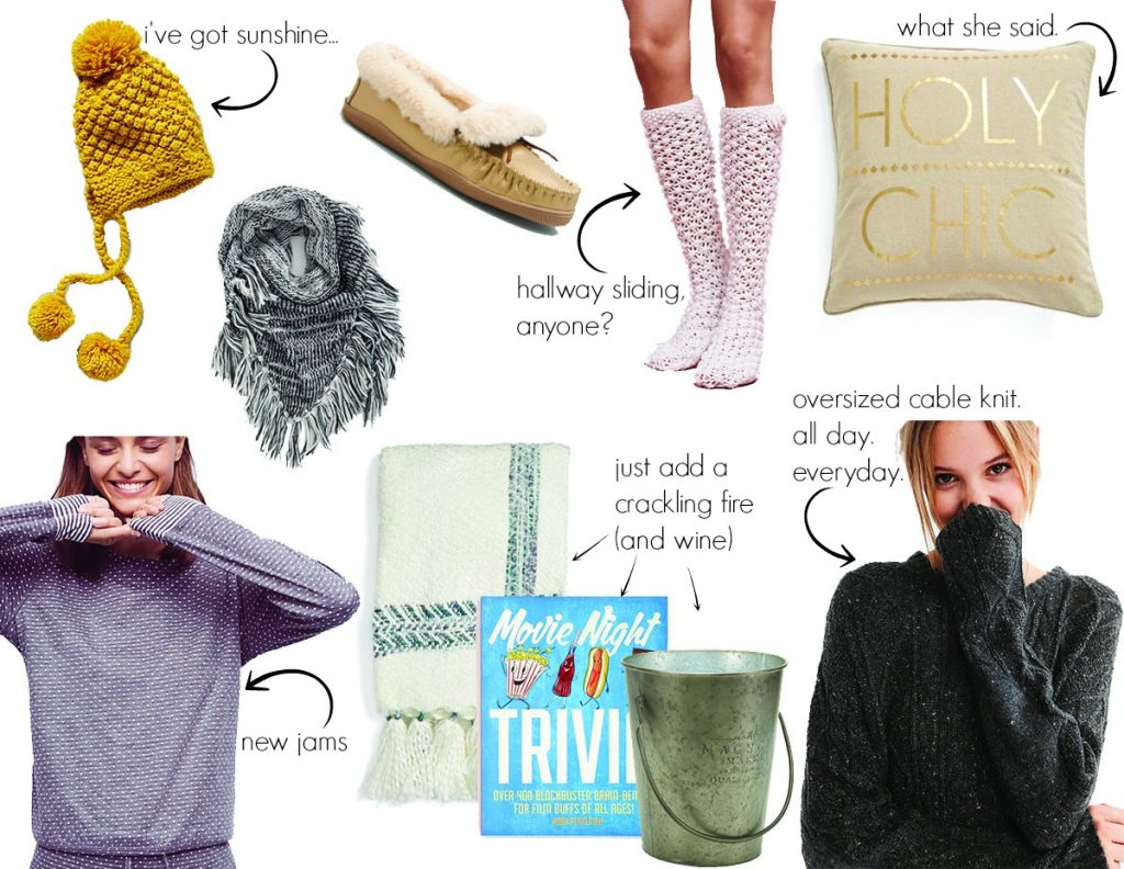 the motherchic blog cozy gifts