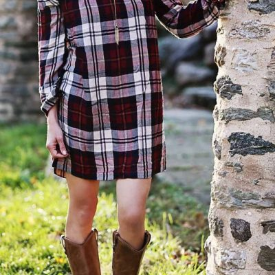 The Little Plaid Holiday Dress