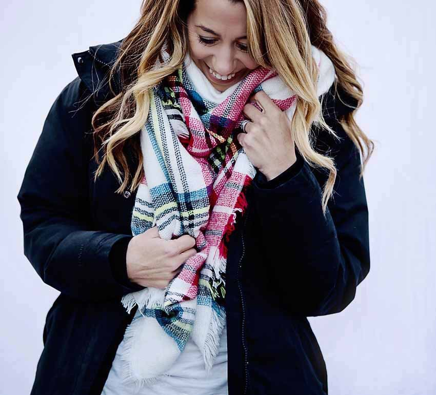swirling honey blanket scarf