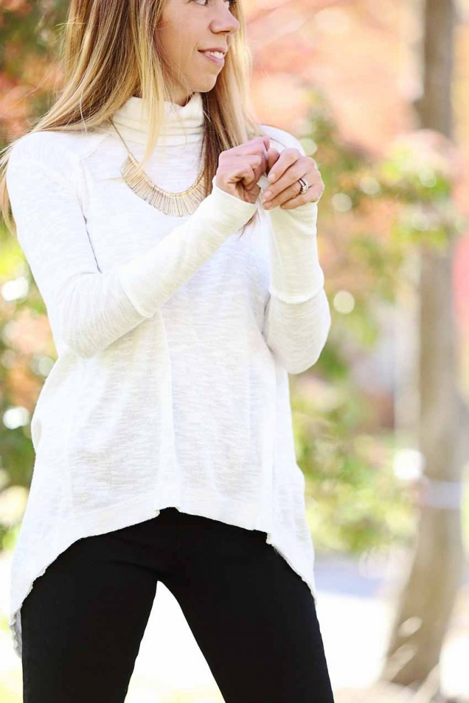 the motherchic wearing free people top