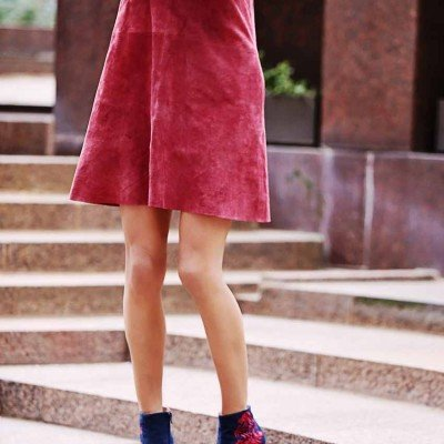 Simple Shift Dress + Statement Booties