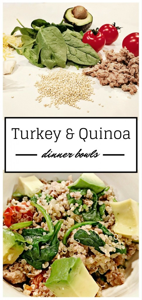 Easy and healthy weeknight dinner - turkey and quinoa bowls!