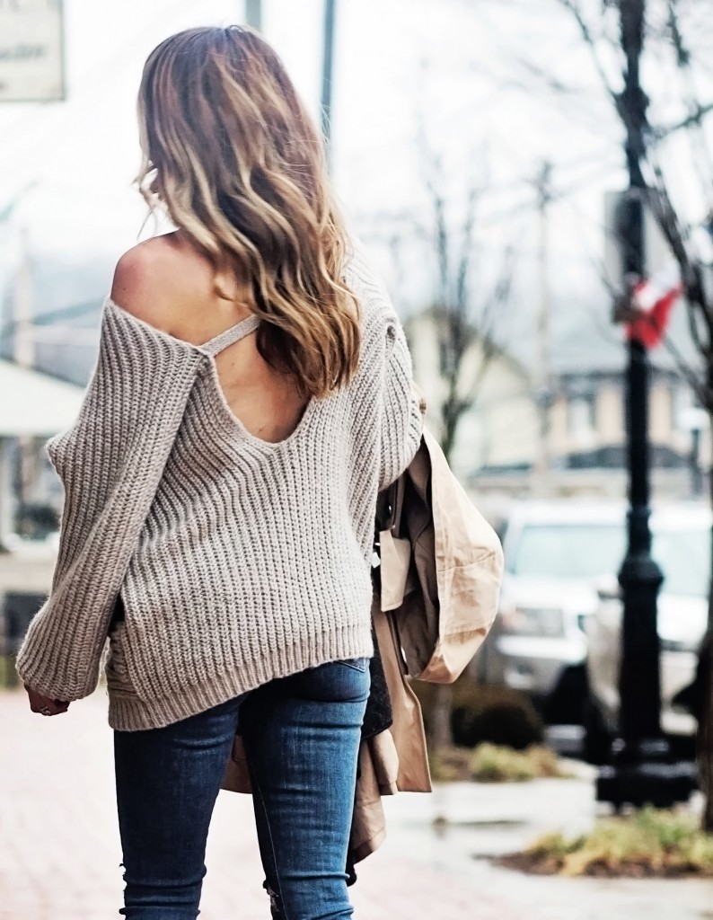 open back date night sweater