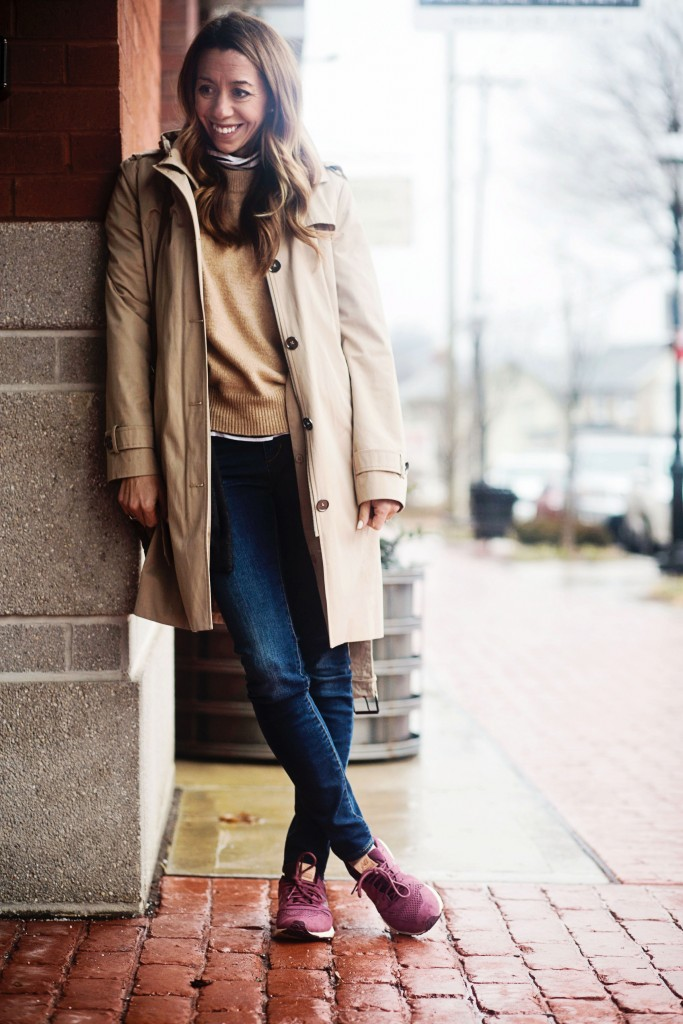 the motherchic wearing michael kors trench