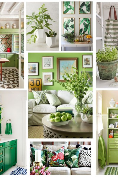 Home Decorating with Greenery: The Pantone Color of the Year