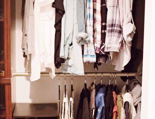 decluttered closet