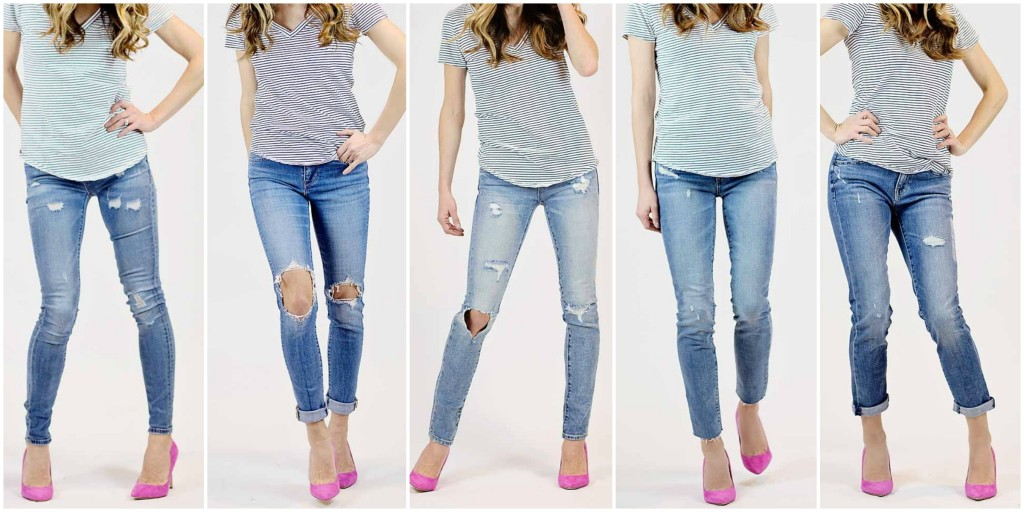 the motherchic wearing distressed jeans under $100