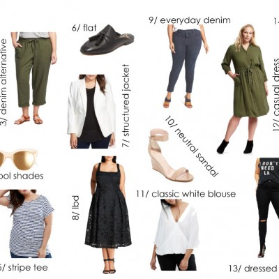 Capsule Wardrobe for Curvy Girls