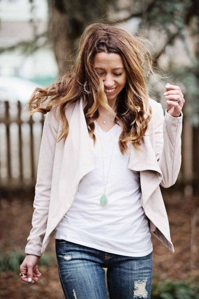 Blush Crush: Draped Jacket
