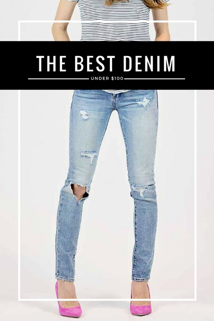 The best distressed denim under $100
