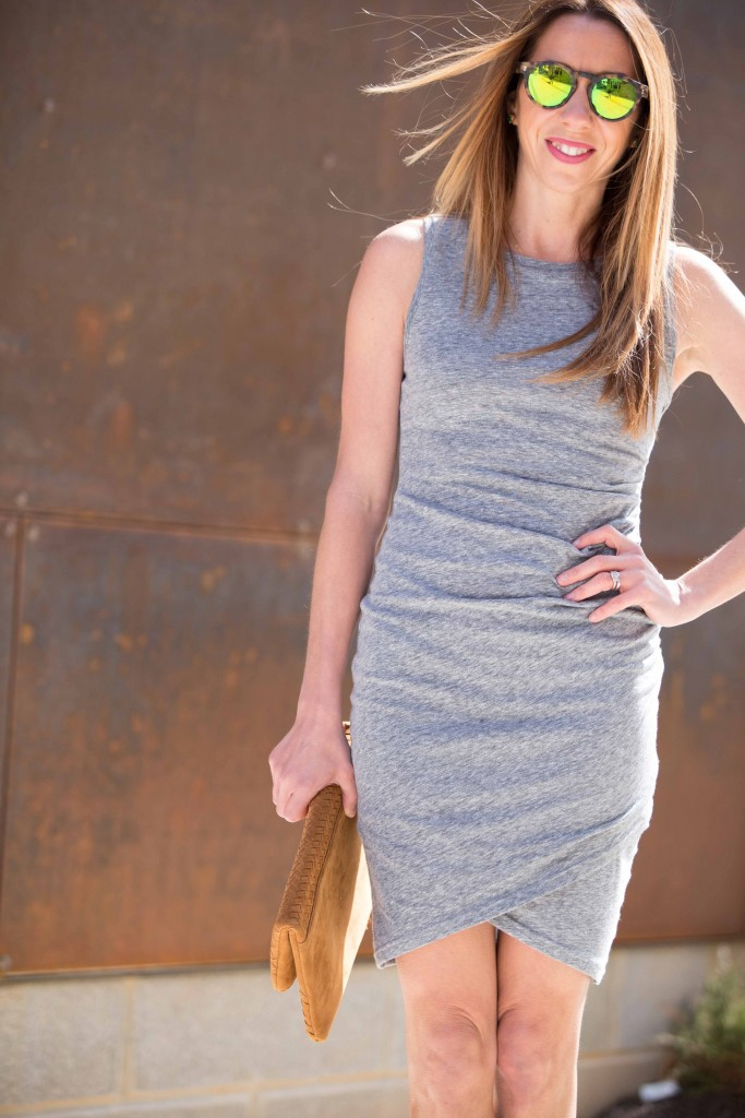 the motherchic wearing leith body con tank dress