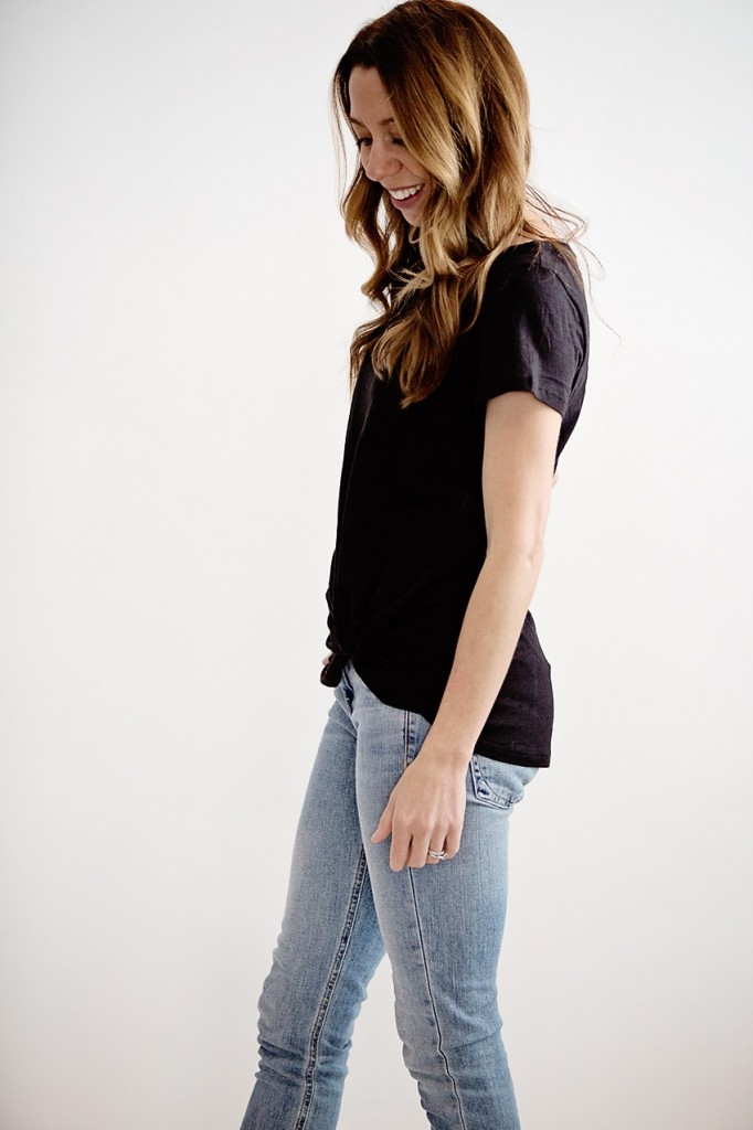 the motherchic wearing tees under $30