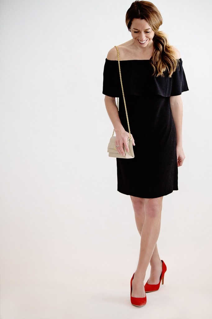 the motherchic wearing a LBD