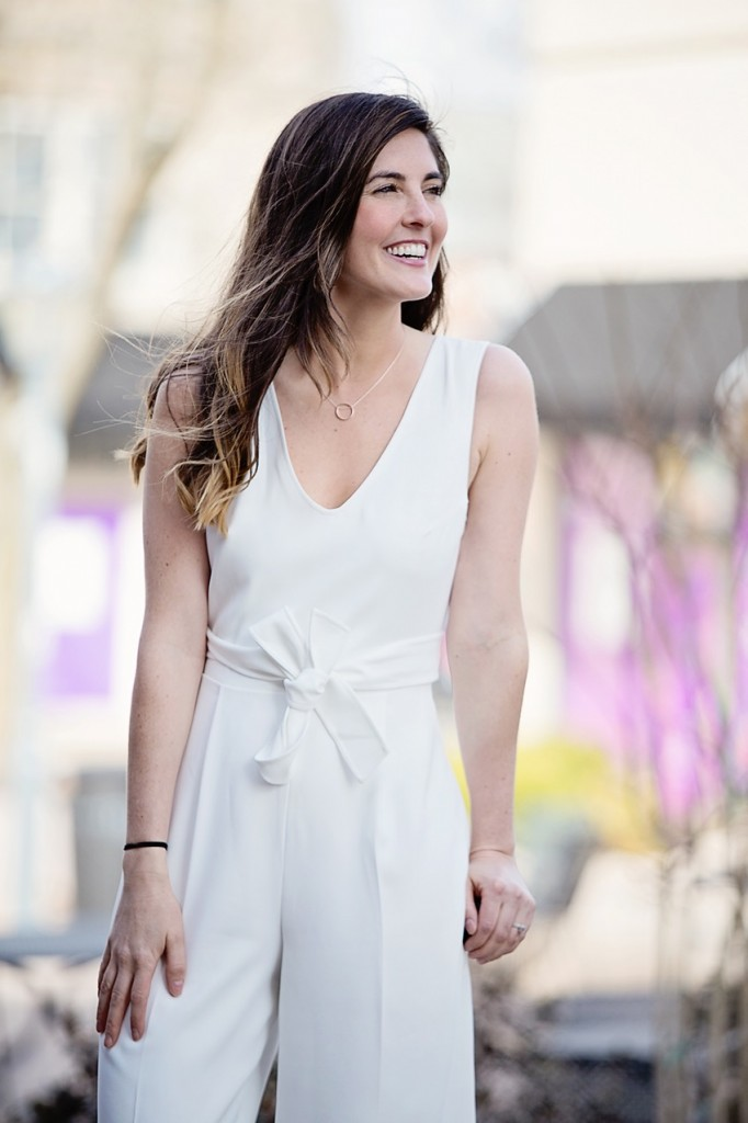 club monaco white jumpsuit