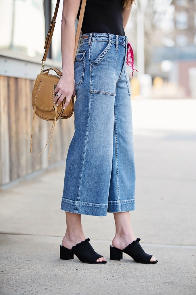 the motherchic wearing anthropologie culottes