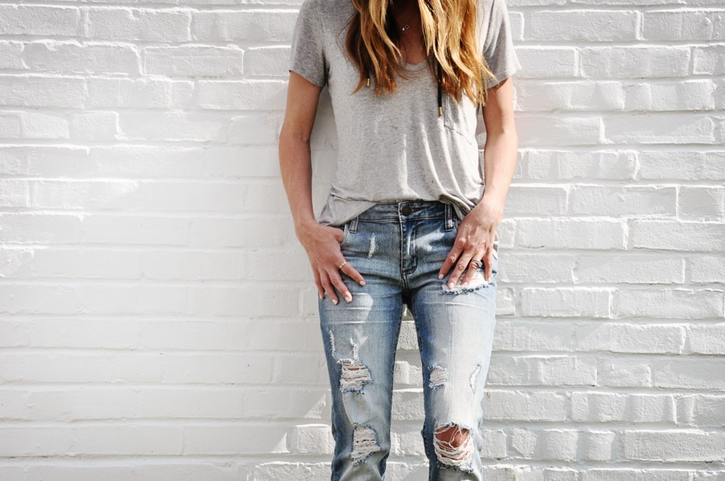 lush tee and sts tomboy jeans