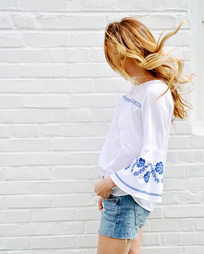 loft embroidered top