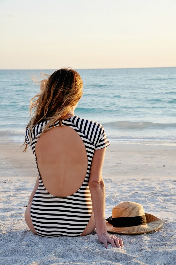 j.crew short sleeve swimsuit