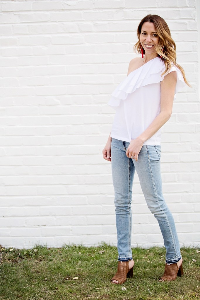 one shoulder top from nordstrom