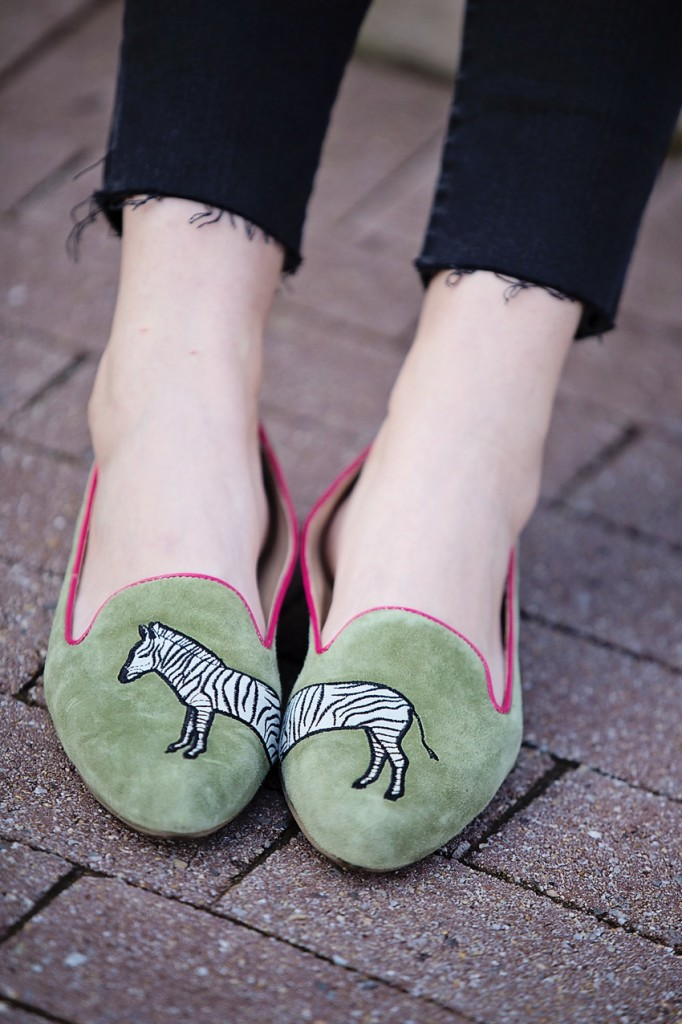 zebra loafers