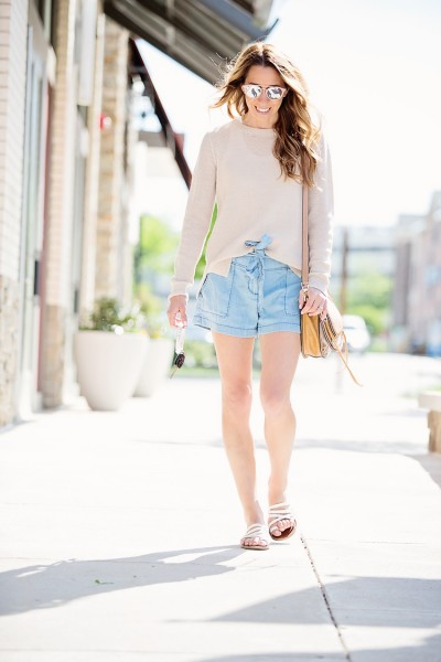 Everyday Casual: Tie Front Shorts