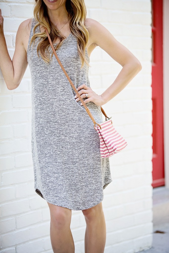 30 second outfit tank dress and cross body bag