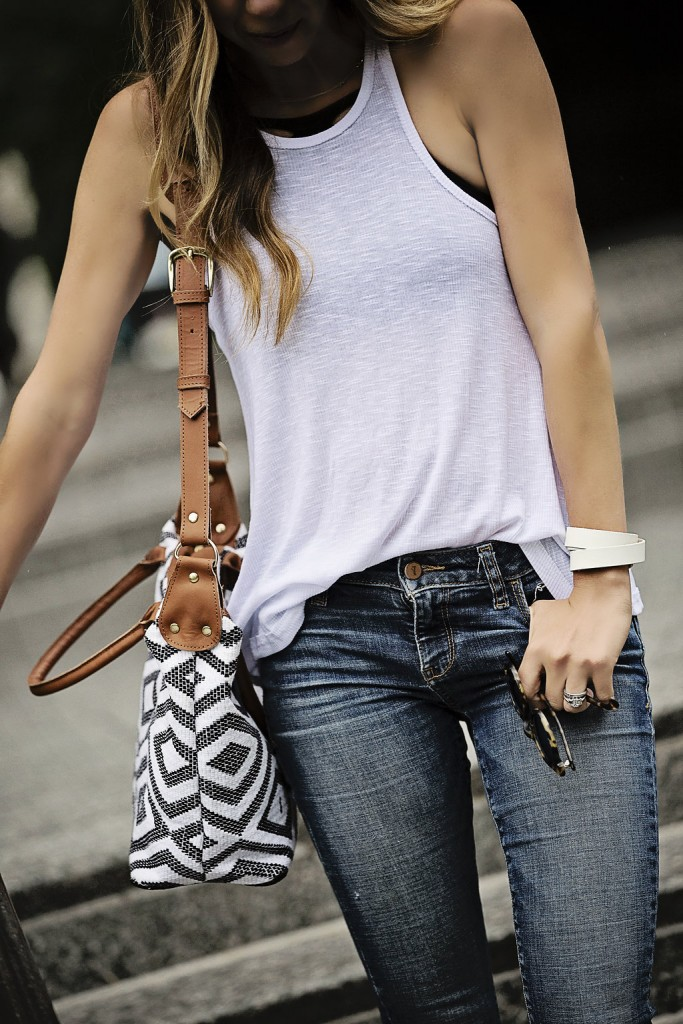 white free people tank and pilcro jeans