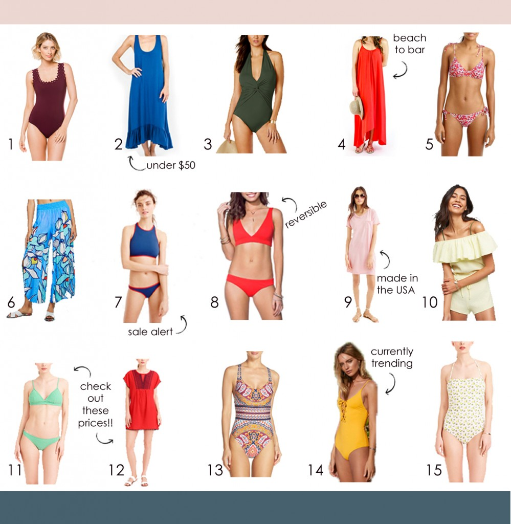 swimsuits and cover ups