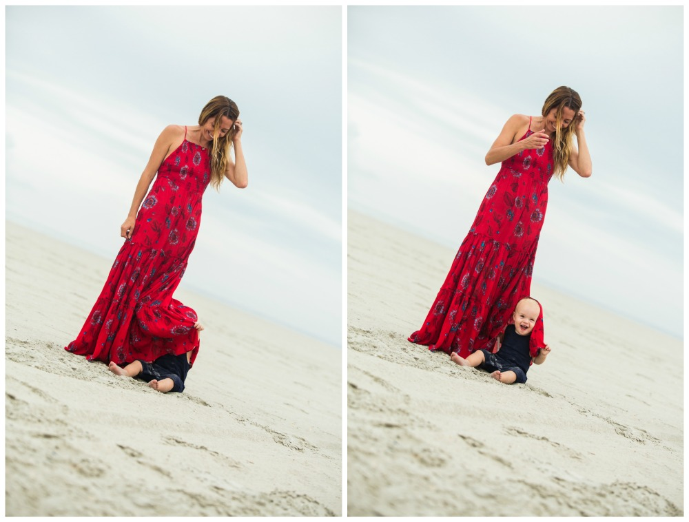 The Motherchic wearing free people garden maxi dress