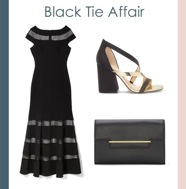 Vince Camuto black tie dress