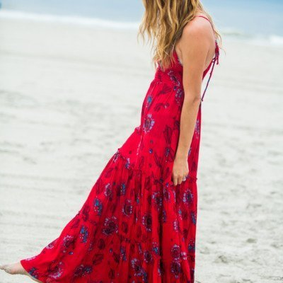 Red Floral Dress + 10 Things