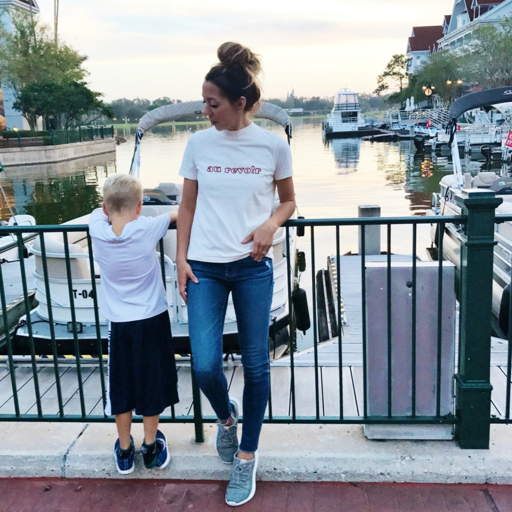 what I wore to disney - madewell au revoir tee